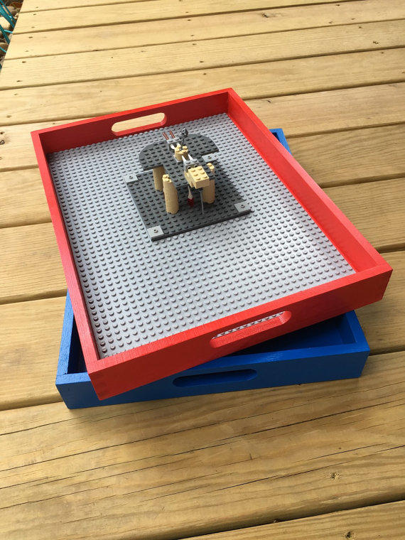 Wooden LEGO Trays