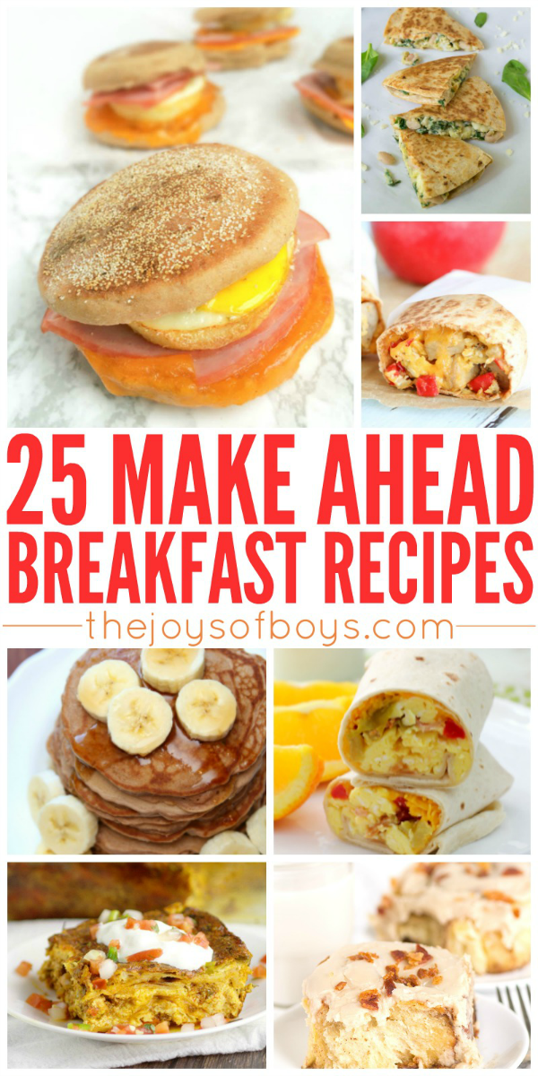 Make Ahead Breakfast Recipes