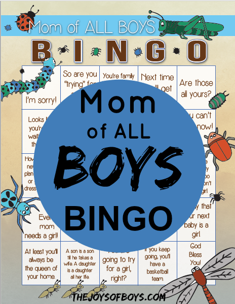 Moms of boys bingo
