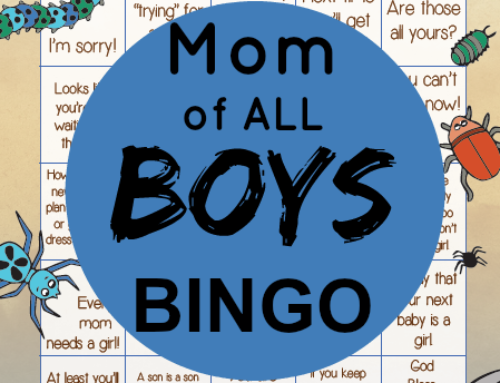 Mom of ALL Boys BINGO