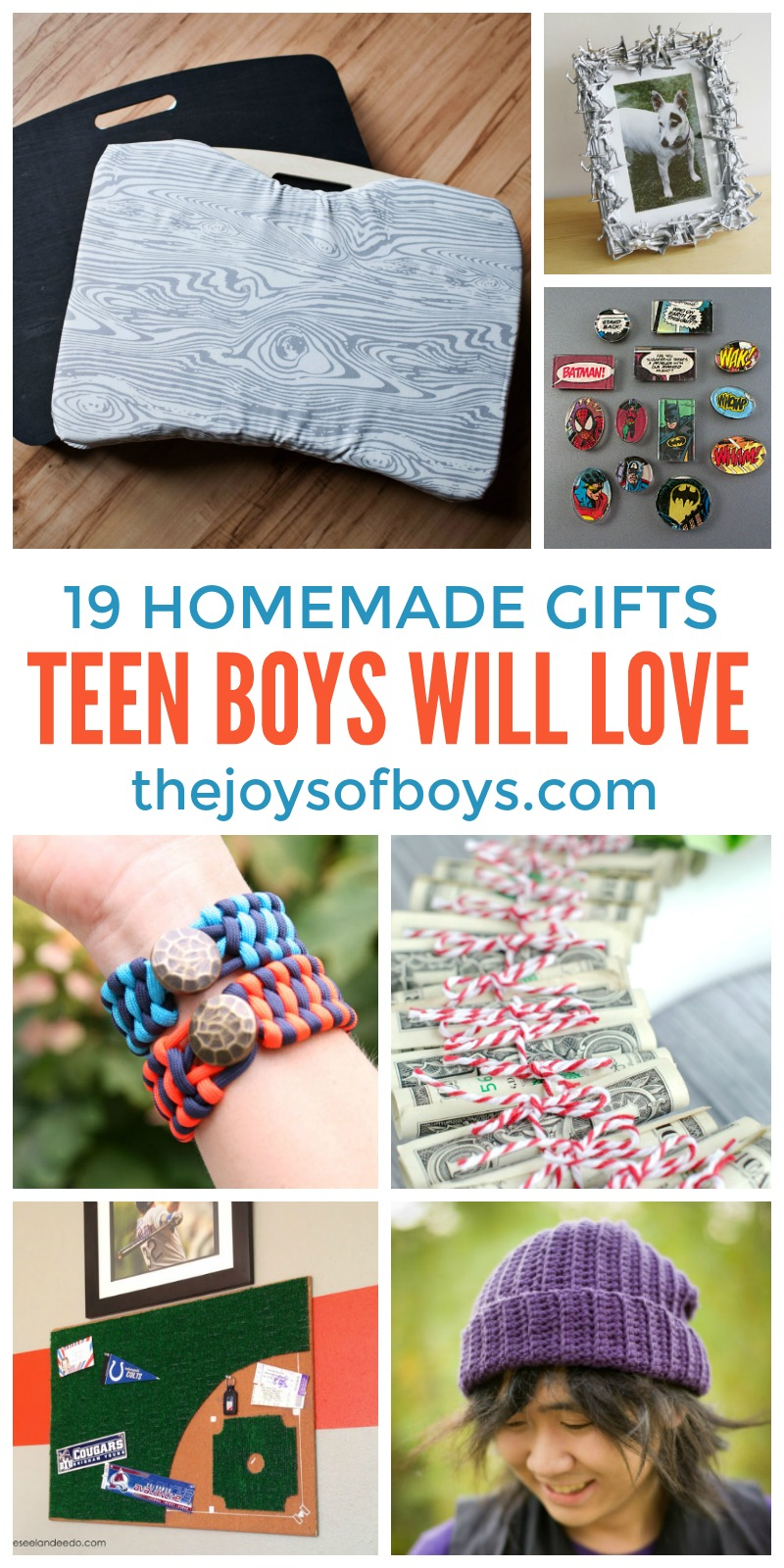 Diy gifts teen boys will love homemade gifts for teen boys for Easy diy gifts for boys