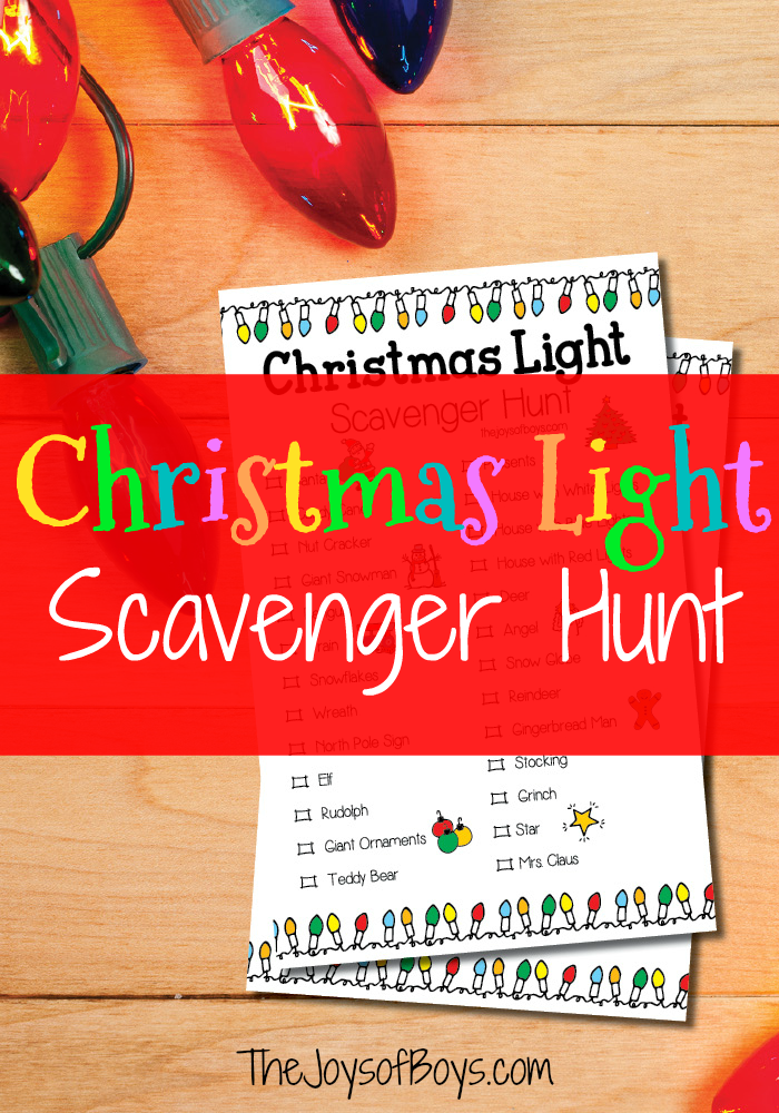 Printable Christmas Light Scavenger Hung