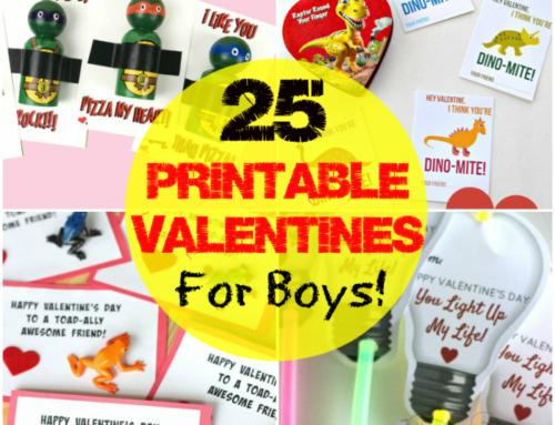 Printable Valentines for Boys