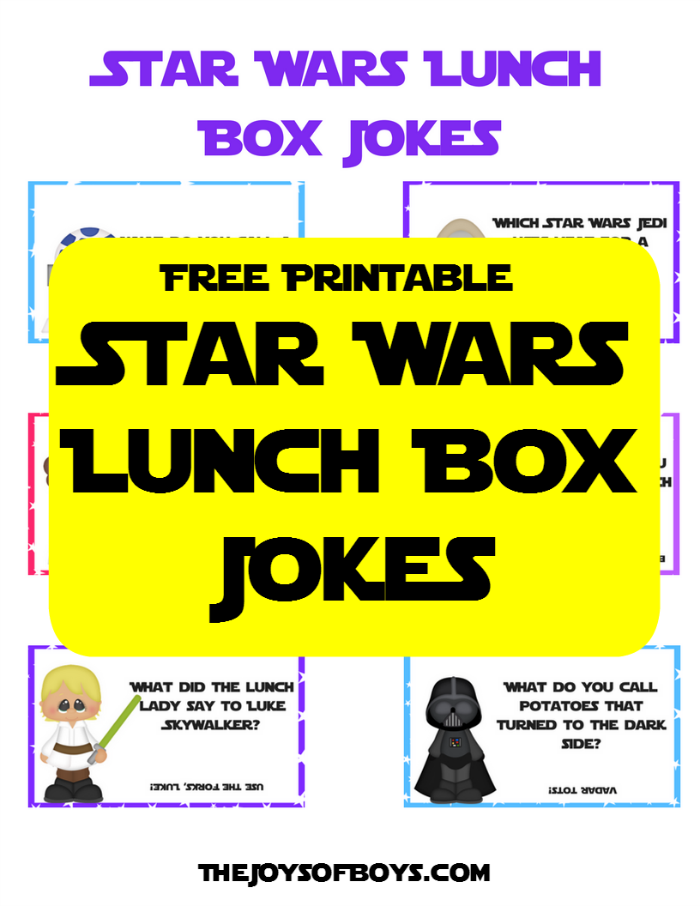 picture about Lunch Box Jokes Printable identify Star Wars Lunch Box Jokes Youngsters Will Take pleasure in - Totally free Printable