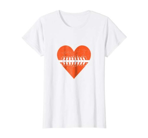 Football Heart T-shirt