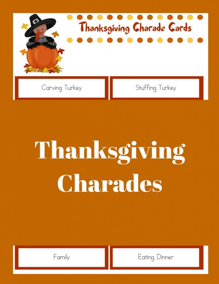 Printable Thanksgiving Games: Thanksgiving Charades