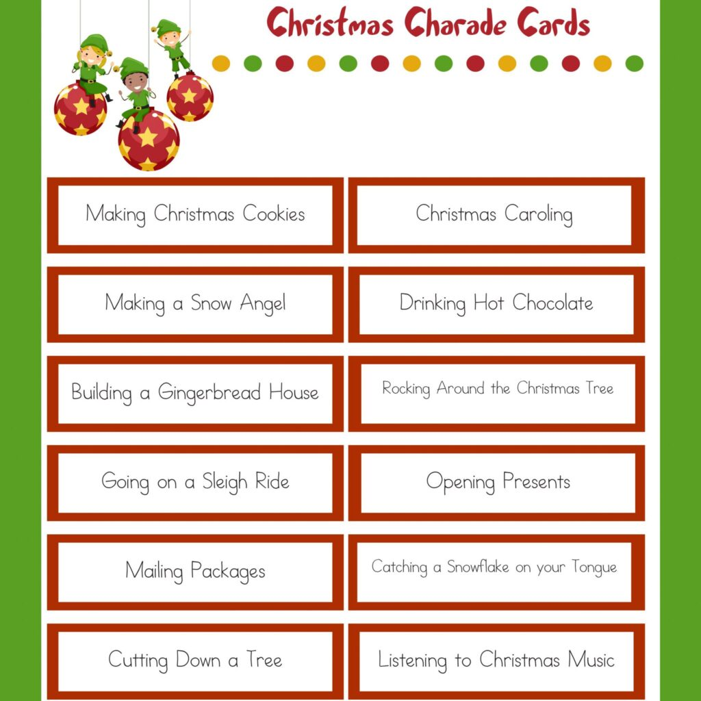 Fun Christmas Party Ideas For Adults: Family Christmas Party Game