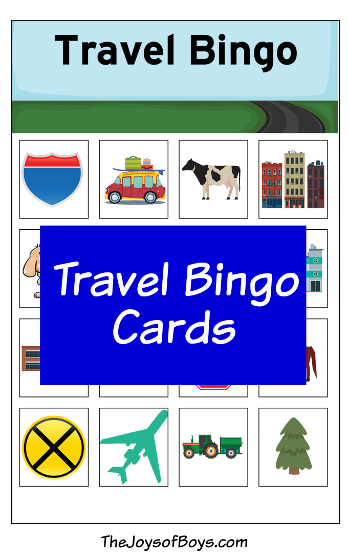 This is a picture of Slobbery Printable Travel Bingo