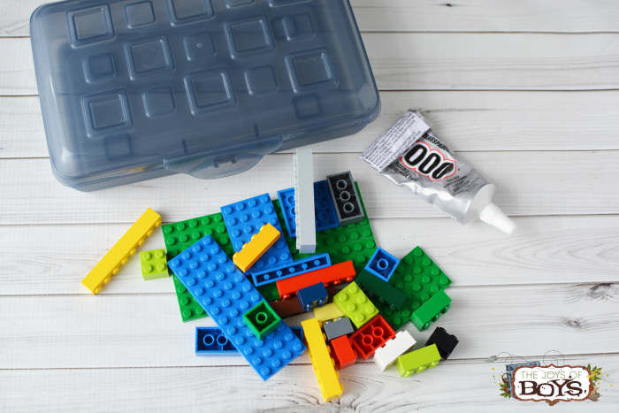LEGO travel box supplies
