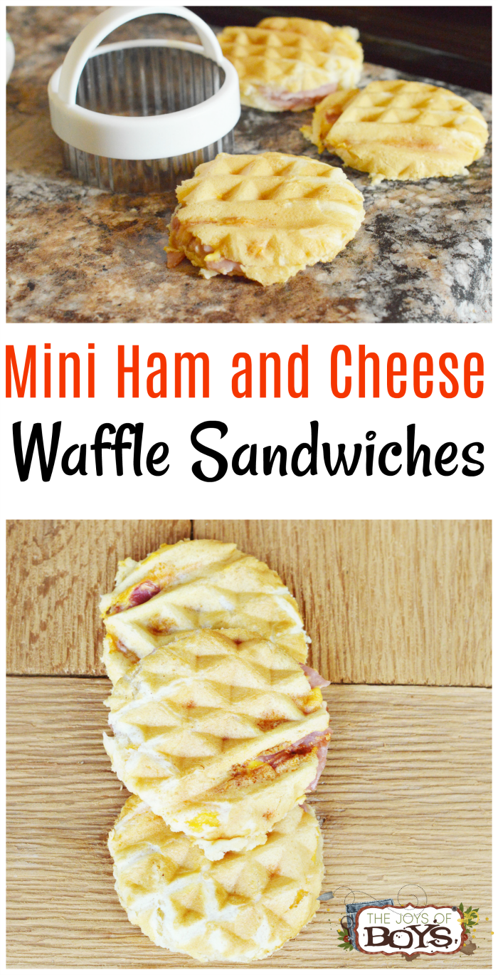 These Mini Ham and Cheese Waffle Sandwiches are a fun twist on traditional lunch.
