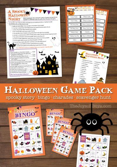 Printable Halloween Games for Kids