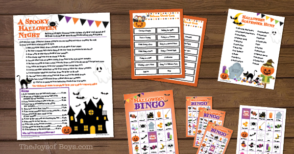 Printable Hallowen Games for Kids
