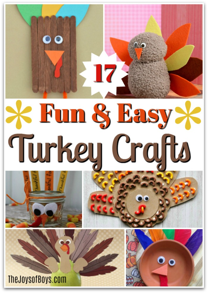 easy thanksgiving craft ideas kids 17 and easy turkey crafts the joys of boys 6527