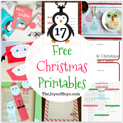 Free Christmas Printables Kids will Love!!