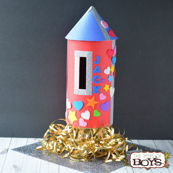 Make a Rocket Valentine Box and Have a BLAST This Valentine's Day