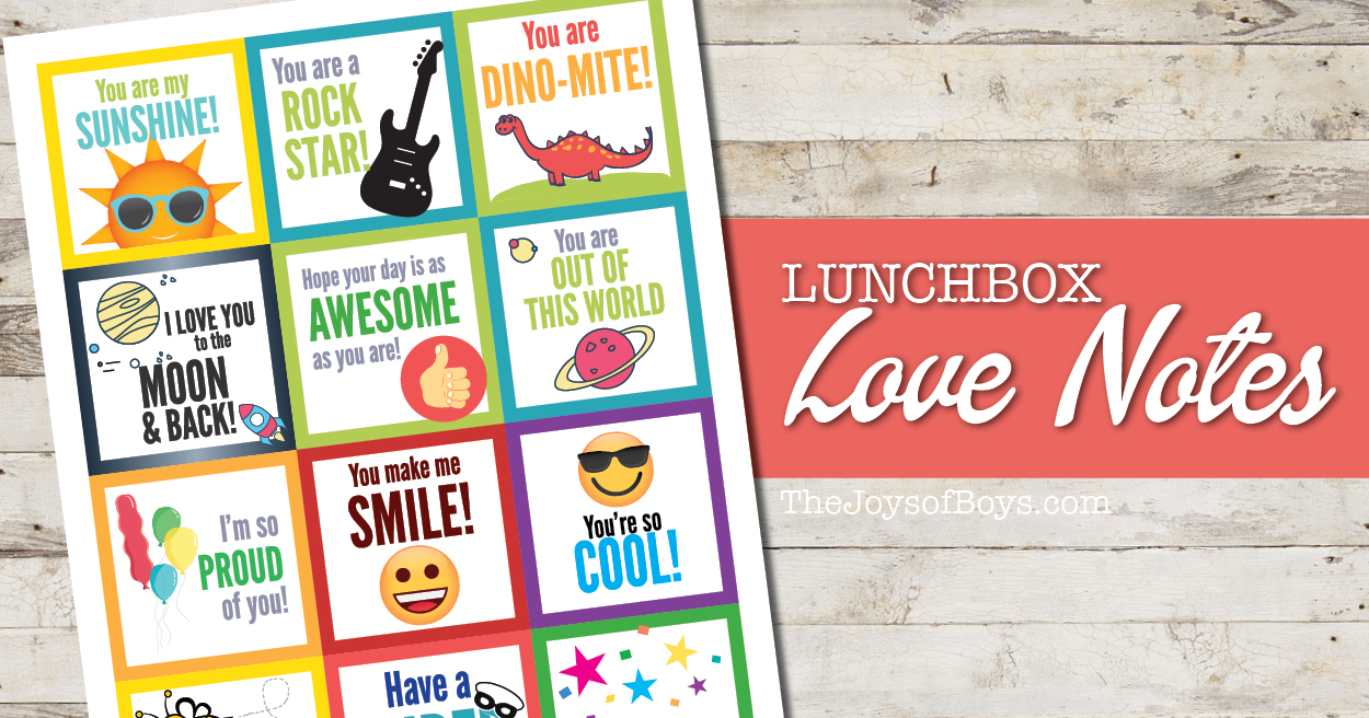 Lunch box notes kids will love