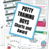 Potty training charts, potty training award, Potty training punch cards