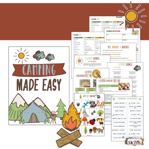 Make camping with kids easy and fun with this Camping Made Easy printable pack.