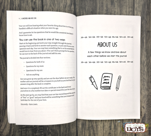 Build a strong relationship with your son with this mother son journal.