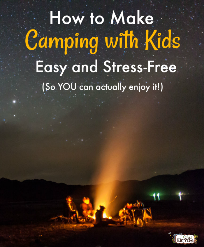 How to make camping with kids easy and stress-free with printable camping resources.