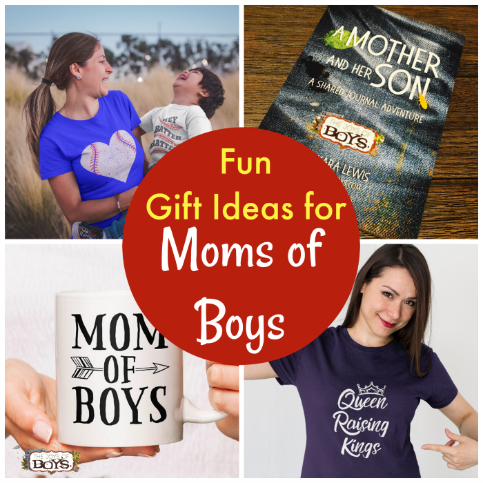 Gift Ideas Moms of Boys will love including moms of boys t-shirts, mugs, journals, wall hangings and moms of boys jewelry.