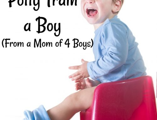 How to Potty Train a Boy (From a Mom Who's Done it FOUR Times!)