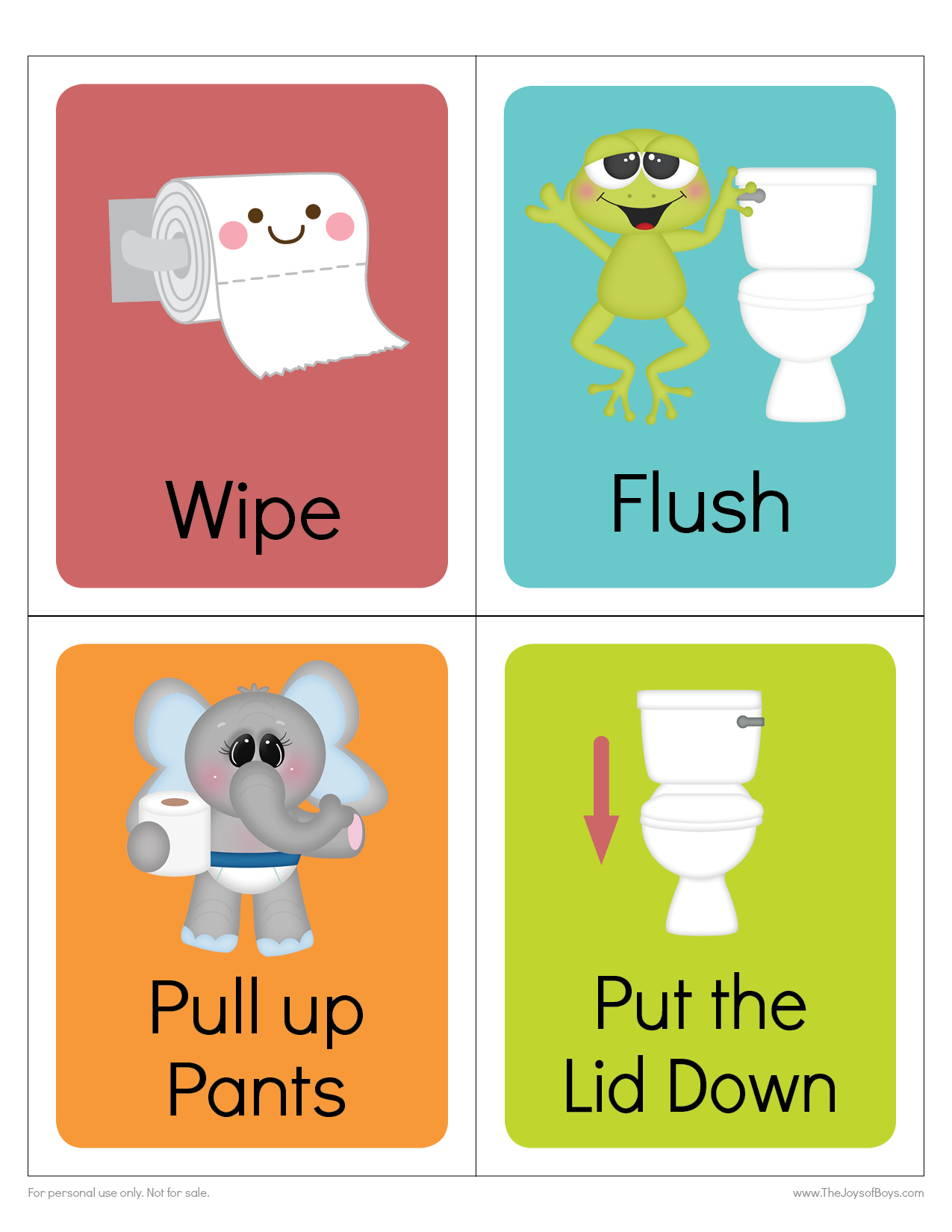 potty training visual schedule cards