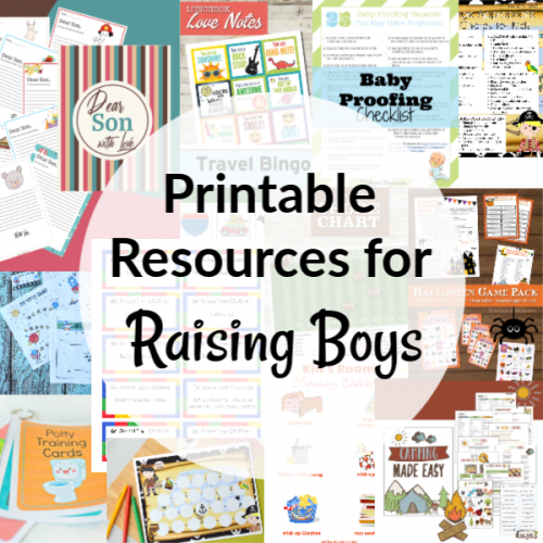Printable resources for raising boys