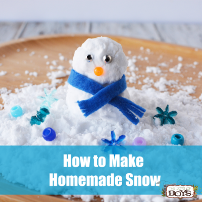 How to make homemade snow using baking soda and shaving cream