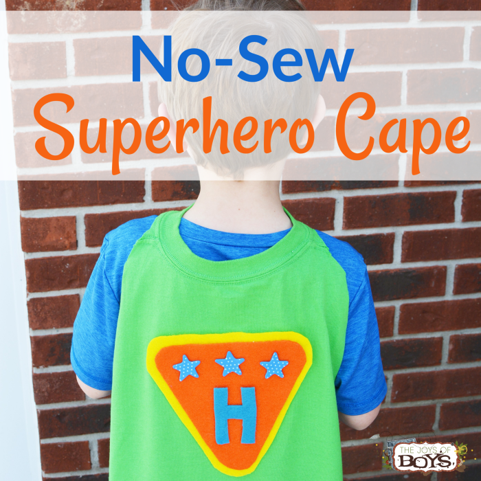 No-Sew Superhero Cape Made Out of a T-Shirt