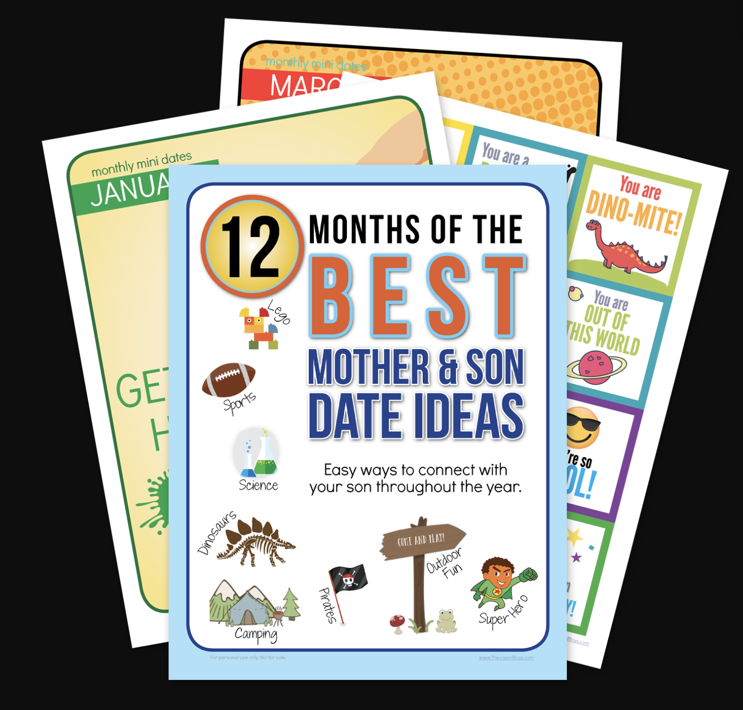 12 Months of the Best Mother and Son Dates Bundle