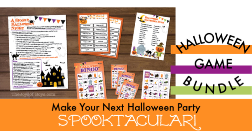 Halloween printable party game bundle
