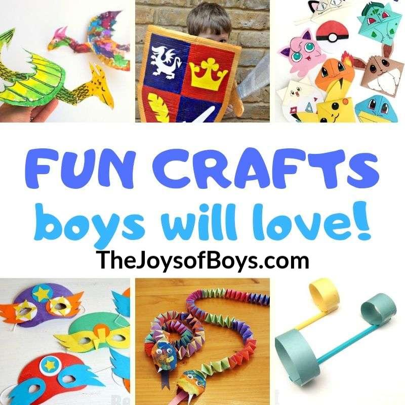 Fun Crafts Boys Will Love